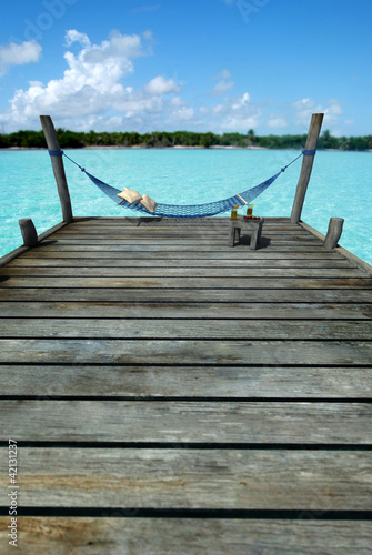 Hammock in tropical pier
