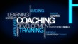 Coaching development training tag cloud video animation