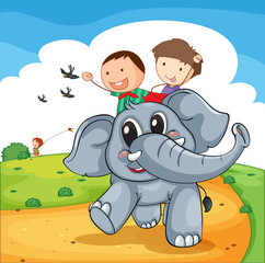 Elephant ride © GraphicsRF