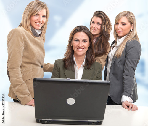 Girls work team