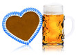 Lebkuchenherz und Bier
