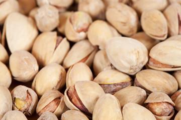 Background of whole pistachios