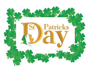 St. Patrick's Days design over a white background