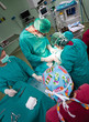 Aerial view of surgery operation