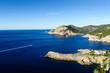 Evissa island. Paradise bay seascape.