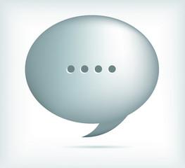 silver speech bubbles