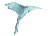 Fototapete Origami - Fliegender - Vögel