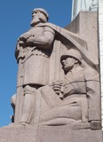 Guards of the Fatherland (Freedom monument, Riga, Latvia) poster