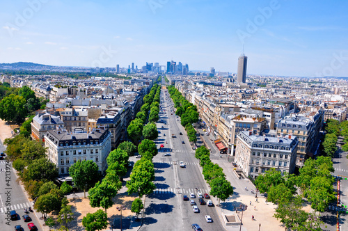 The Avenue Charles de Gaulle. Paris.