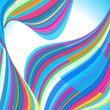 Abstract background. Multi-colored waves