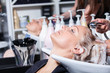 hair washing at a hairdressing salon
