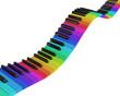 Regenbogen Klavier