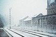 Snowing in Canfranc Railway Station