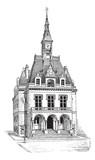 Town Hall at La Ferté-sous-Jouarre in Seine-et-Marne, Ile-de-Fra poster