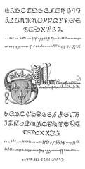 Manuscript, vintage engraving