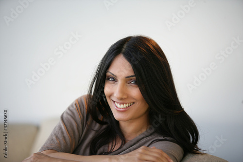 A smiling young woman