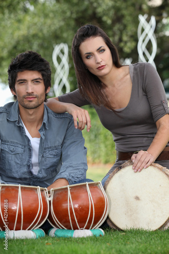 Youth with drums