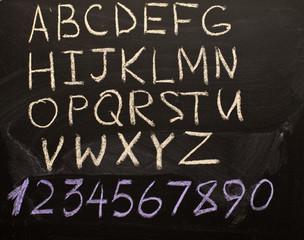 Alphabet and Numerals