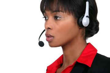 A call centre agent