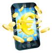Euro money phone concept