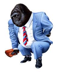 ゴリラのビジネスマン