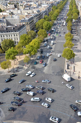 Traffic jam in a big city