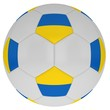 Soccer ball with the symbols of Ukrainian flag