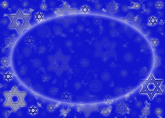Blue and silver Star of David background