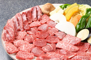 sliced raw beef for Korean beef barbecue