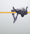 High jump. Creative vector Illustration.