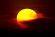 Fototapete Durchreise - Planet - Sonnenauf- / untergang