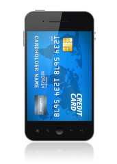 Mobile phone payment concept