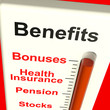 Benefits Meter Showing Bonus Perks Or Rewards