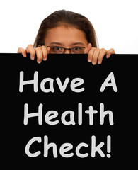 Health Check Message Showing Medical Examination