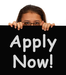 Apply Now Sign For Work Application
