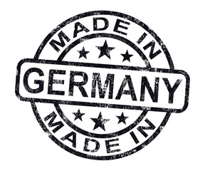 Made In Germany Stamp Shows German Product Or Produce