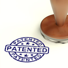 Patented Stamp Showing Registered Patent Or Trademarks