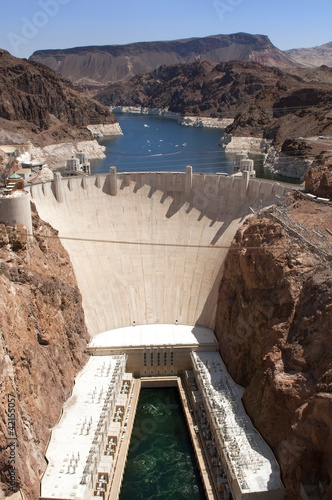 Papiers peints Barrage Aerial view of Hoover Dam