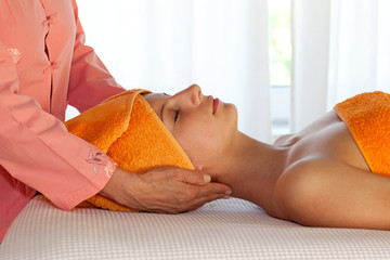 Woman Javing Spa Treatment