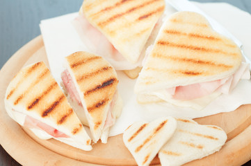 Ham and cheese sandwich _ Toast
