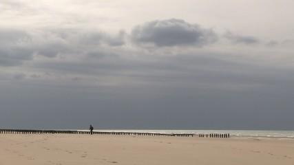 ciel gris de la côte d'opale