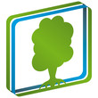 Baum Piktogramm Logo Luft Wasser Himmel mit QXP9 Datei