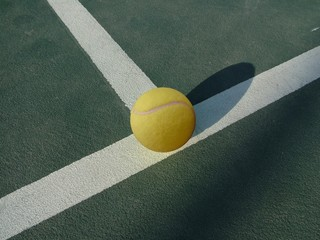 Tennis ball on the Tennis Court