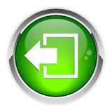 output disconnect button Internet icon. poster