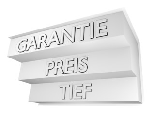 Tief Preis Garantie/ weiss - 3D