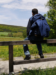 Pause beim Wandern