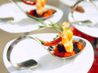 Sun-lit seafood snacks