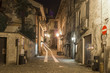 Orta main old street by night color image