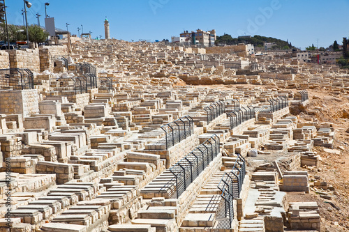 The Jewish cemetery on the Mount of Olives in Jerusalem