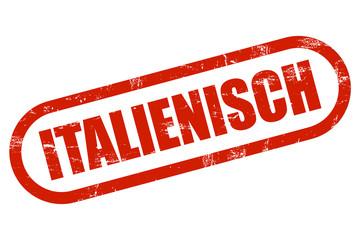 Grunge Stempel rot ITALIENISCH